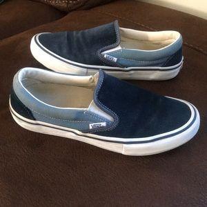 Vans pro slip on sneakers ultracush blue suede